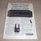 Yamaha CDC-610u changer Cd Player Ad from 1989, RARE!