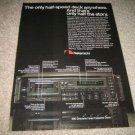 Nakamichi 680 Tape Deck ad from 1987,features,color