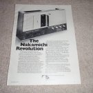 Nakamichi 700 Tri-Tracer Ad from 1974, specs, very RARE