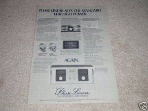 Phase Linear D-500 Series II Amplifier Ad, Ultra-RARE!