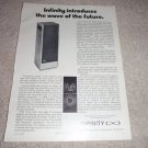 Infinity 2000 AXT Speaker AD from 1974, Article, RARE!