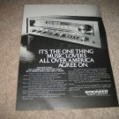 Pioneer SX-650 Receiver Ad from 1977,mint! specs