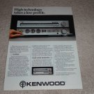 Kenwood KA-80 Amplifier Ad, KT-80 Tuner, Article, 1980
