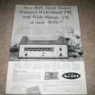 Scott Model 320 AM/FM Tube Tuner Ad from 1959