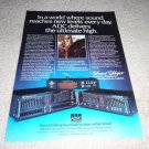 ADC SS-110,SS-II,SS-III Equalizer Ad from 1981, RARE!