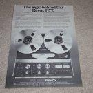 Revox B77 Open Reel Ad,1977,Article,Rare!