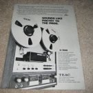 Teac A-7030 Ad from 1971,RARE! Pro Sound Ad!