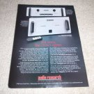 Audio Research TUBE VT100 Amp, LS15 Preamp Ad from 1997