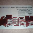 Marantz Super Scope Ad, 2 pgs, RARE! All items, spkrs