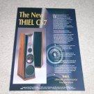 Thiel CS7 Speaker Ad,1995, Article, Beautiful Ad! Rare