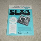 Garrard SLX-3 Turntable Ad, 1971, Article, Rare!