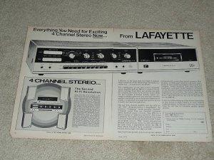 Lafayette LA-44, RK-48 Receiver Ad, 1971, 2 pgs,Article