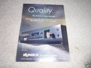 Dynaco CDV-1 Tube Cd Player AD from 1995, Beautiful!