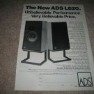 ADS L620 Speaker Ad from 1979,Rare!
