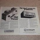 Crown Amplifier Ads, DC-300, SA2, Article,specs, 2 Ads