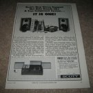 Scott Compact Stereo System AD from 1965,rare!