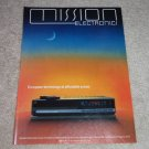 Mission PCM 7000 Cd Player AD from 1987, Beautiful!