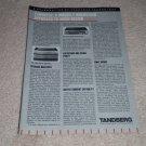 Tandberg TPA 3016 Amp,3018a Pre, Article, Ad 1986