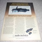 Audio-Technica AT25,AT24 Cartridge Turntable Ad fr 1979