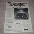 Sony PS-X7 Turntable Ad, 1978,article, Nice Ad!