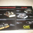 CARY Tube Amp Ad from 1996, 2 pgs, CAD 211,200,SLI-50