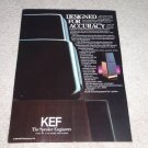 KEF 105.4 Speaker Ad, 1982, RARE! Article, Reference