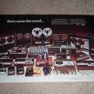 Sony Entire Line Tape Decks Ad,Open Reel,Cassette 1974