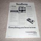 Tandberg TR-1055 Tuner,9200xd Reel,TCD-310 Cass Ad 1974
