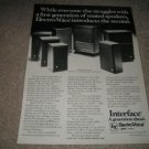 Elctro-Voice Interface Line Ad from 1977,nice!