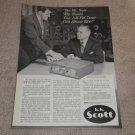 Scott Ad, 1956, Herman Scott in Ad,330 Tuner Ad, RARE!