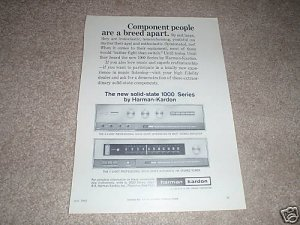 Harman Kardon A-1000t Amp,F-1000 Tuner Ad from 1964