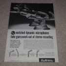 Electro-Voice Microphone Ad, 664,636,623,630, Article