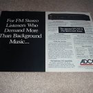 Adcom GFT-555 II Tuner AD from 1990,4 pages, GFP-555,GF