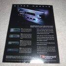Nakamichi AV-8,DR-10 Tape,DVD-10,MB-10 CD, Ad from 1999