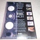 Thiel MCSi L/R/C speaker Ad from 1999, 1 page,
