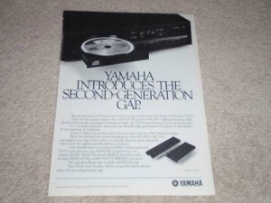 Yamaha CD-X1 CD Player Ad, 1984, RARE Ad! Article