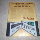Technics RS-676us, 610us Cassette Deck Ad from 1973