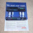 Aiwa Beta Hi-Fi Ad, 1984, Article,AV-50m,SV-50m,RARE!