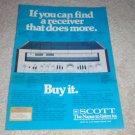 Scott 390r Receiver AD, 1978,specs, article,color