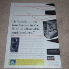 B&W DM302 Speaker AD, 1997, Article, Inside View, RARE!