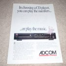 Adcom GCD-575 CD player Ad from 1991