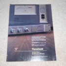 Threshold SA/1 STASIS Amplifier Ad,FET 10 Preamp, 1987