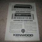 Kenwood KR-9600 Receiver Ad from 1977, KR-4070 320 watt