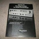Hitachi SR 804 Receiver Ad from 1977