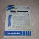 Harman Kardon CD491 Cassette Ad,1984,specs,Article