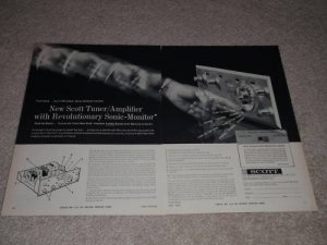 Scott 340 Receiver Ad,features,Article,tube, RARE!