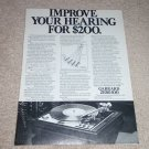 Garrard ZERO 100 Turntable Ad, 1972, Article, Info