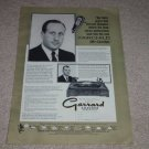 Garrard RC98 Turntable,Fairchild SM-1 Ad,1959, Articles