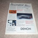 Denon DCD-1500II CD Player Ad from 1988