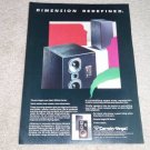 Cerwin Vega SE Series Speakers Ad from 1986, Beauitful!